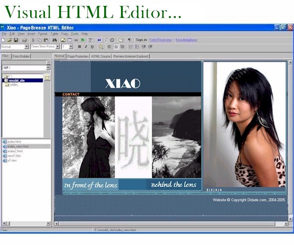 Click to view PageBreeze Free HTML Editor 4.0b screenshot