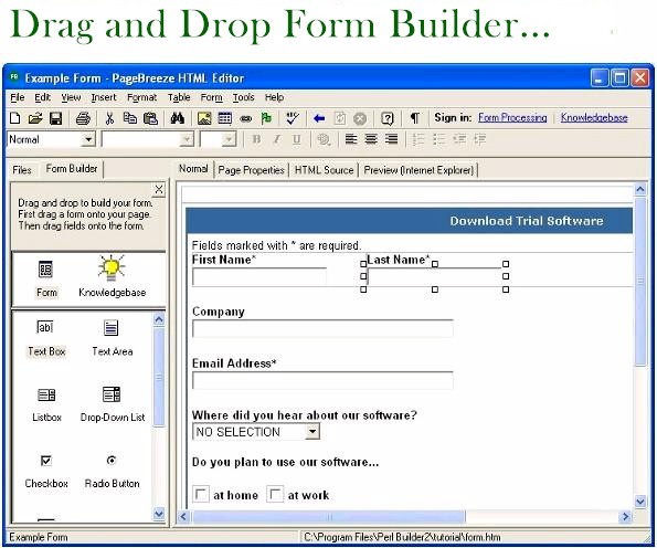 Form generator software